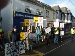 Protest at Simon Coveney's Office